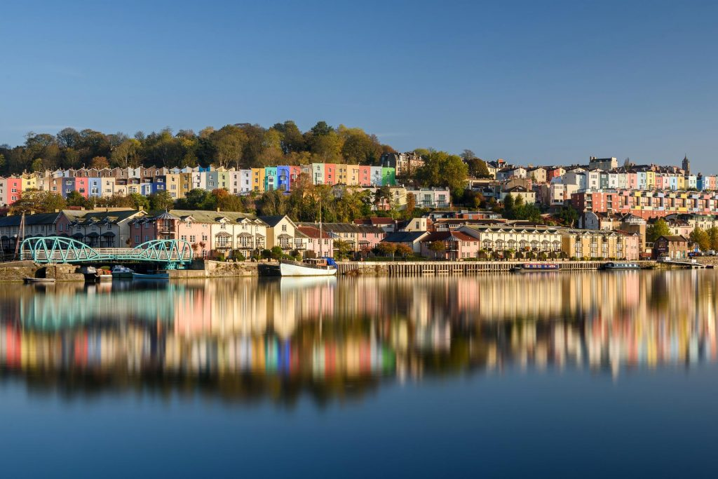 Bristol Harbourside coloured houses - picture from our Improve your Photography workshop