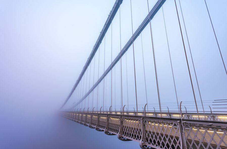Clifton Bridge In Fog Dramatic Effect