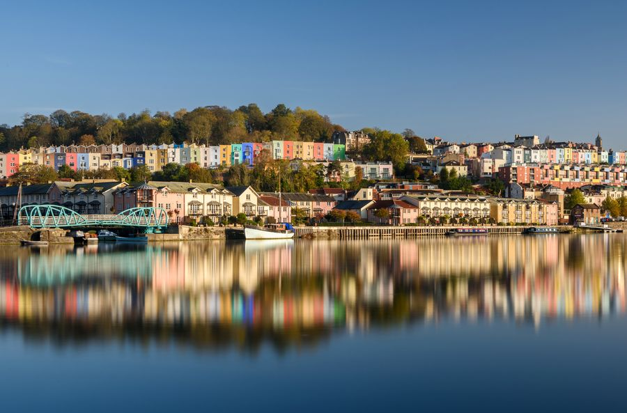 Bristol Coloured House And Harbourside